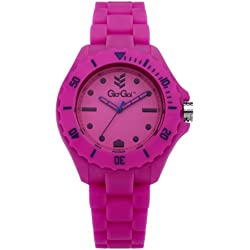 Gio-Goi Unisex 'Headfunk' Analogue Watch GG1004P With Pink Silicon Strap
