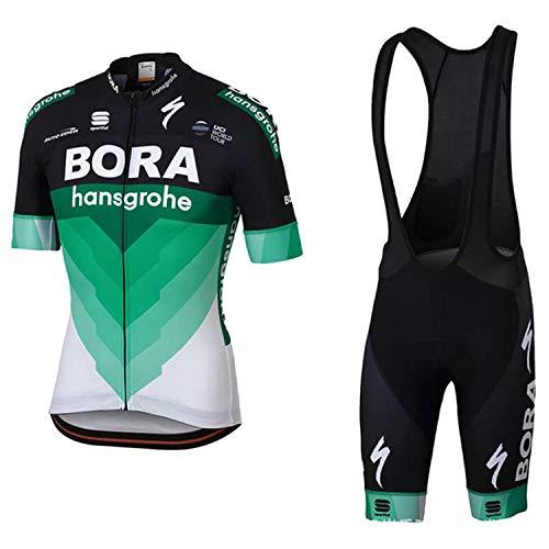 WOLFIRE WF Traje de Ciclismo para Hombre de Equipos. Culotte y Maillot. con 5D Gel Pad. para MTB, Spinning...