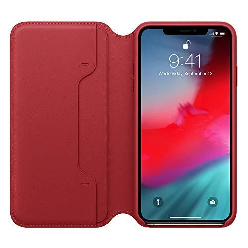 Preisvergleich Produktbild MMLC Für iPhone XR 6.1 inch Hülle Tasche Leder Case I Abnehmbare Cover I Ledertasche Kartenfach Standfunktion Echtleder Hülle Lederhülle Ledercase Handyhülle (Red)