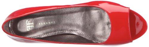Farrutx Pee toe 41284, Chaussures à lacets femme rouge - V.3