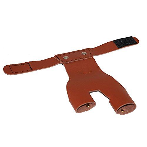 Soulitem Traditionelle Kuh Leder Pfeil Handschuh Bogen Finger Handschutz für Bogenschießen Jagd Schießen -