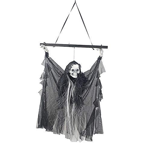 Gangster Kostüm Sexy - KLJJQAQ Halloween Ghost Festival Produkt Bars Ghost Haunted House Dekoration Schädel Tür Anhänger Anhänger Hanging Ghost
