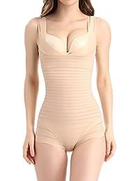 Aivtalk Gaine Combinaison Femme Body Minceur Efficace Lingerie Sculptante Amincissant Respirant Galbante Shapewear Corset 2 Couleurs L-2XL