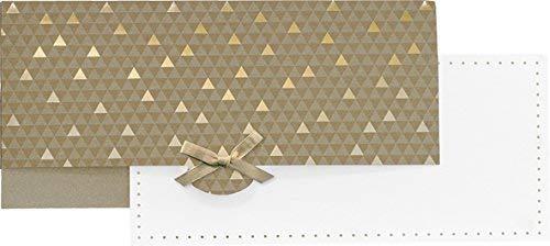 Stewo Gutscheinverpackung - Größe: 11 x 23 cm (ca. DIN lang) - 1 Stück (Astor gold)