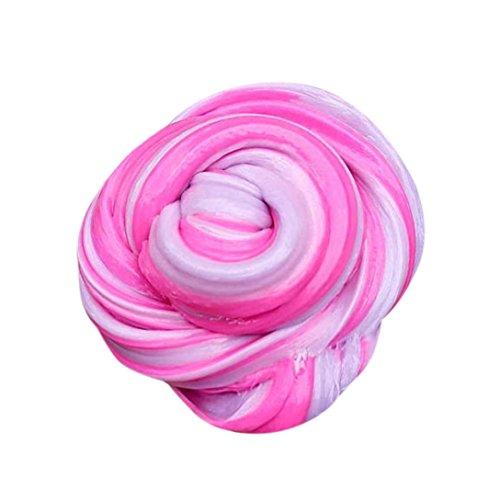 Bescita Kinder Fluffy Floam Slime Putty Durtend Schlamm 60ml Duft Stress Relief Kinder Lehm Spielzeug Boden (A)