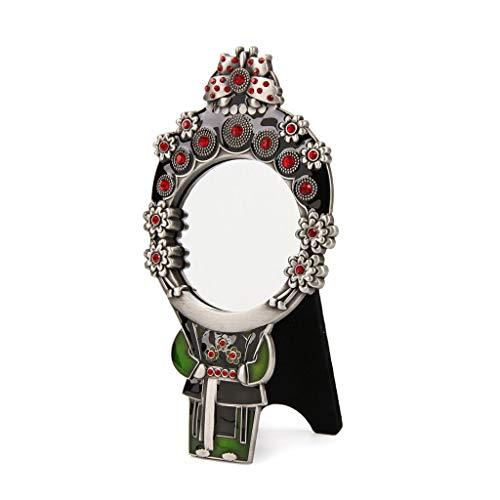 Peking Opera Maske kleiner Spiegel Retro-Stil klassische tragbare Schminkspiegel Xiaoqing