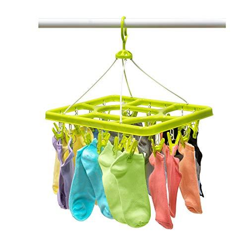 Artmoon Remark Clip|Hänge Wäschetrockner, Trockengestell Socken| Praktisch und Robust | Mit 24 Starken Wäscheklammern |Für den Organisierten Haushalt