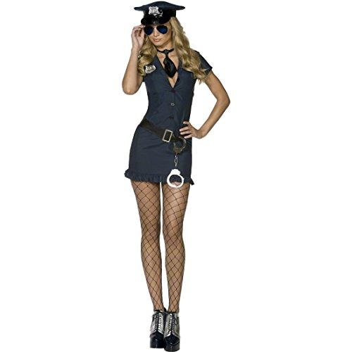 Polizistin Kostüm schwarz S 36/38 Polizeikostüm Damen Politessenkostüm sexy Damenkostüm heiße Kostüme Polizei Cop Politesse
