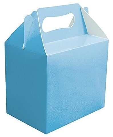 12 x Bébé Bleu Uni Boites Fête Nourriture Jouet Butin Déjeuner Jeu Cadeau Marriage/Enfants