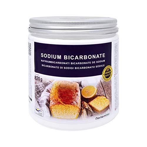 NortemBio Bicarbonate de Soude 820 g, Alimentaire. Qualité Supérieure, Développé en France.