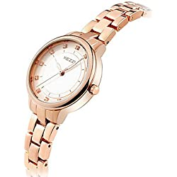 Damen Modeuhr / Armbanduhr Quartz / Edelstahl Band Cool / Bequem Silber / Rotgold Marke