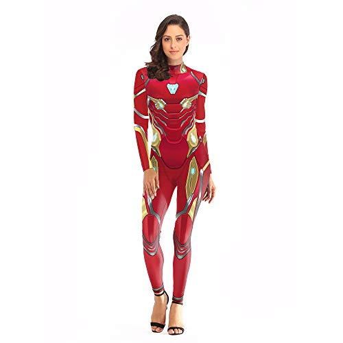 YXIAOL Iron Man, Superheld Kostüm, Avengers Movie Cosplay Kostüm, Halloween Karneval Karneval Party Kostüm, 3D Style, Kinder/Erwachsene,L/XL