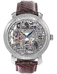 Lindberg & Sons Herren-reloj analógico de pulsera automático de cuero SK14H063