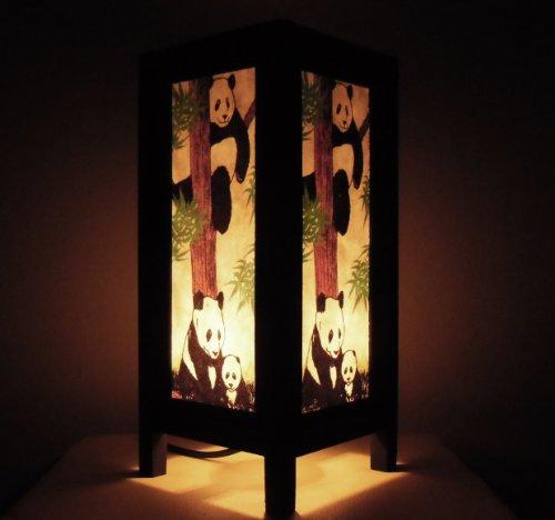 rare-asie-thai-lampe-de-tables-bouddha-style-chevet-famille-de-panda-par-thailande