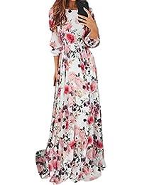 2b0541283d80b DAY8 Robe Femme Été 2018 Longue Grande Taille Robe Femme Chic Soirée Plage  Mode Fleur Boheme Robe Vintage Femme pour Mariage…