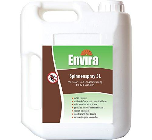 Envira Spinnen-Spray I Anti-Spinnen-Mittel Mit Langzeitwirkung I Geruchlos & Auf Wasserbasis I 5 Liter