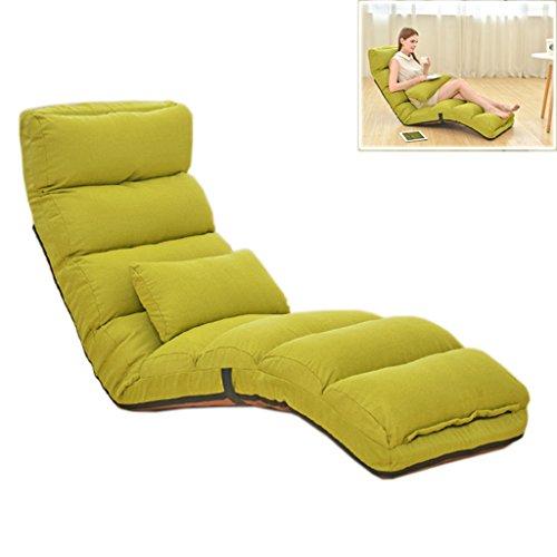 Chi Cheng Fang Electronic business Divano Lazy Pieghevole Tatami Siesta reclinabile Divano Letto per Il Tempo Libero 150 kg di Portata (Color : Green, Size : 175cm(68.9inch))