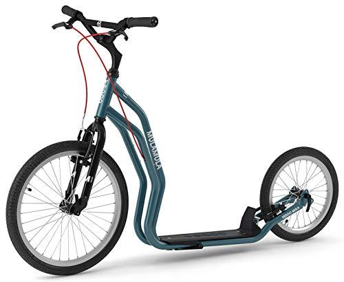 Yedoo Scooter Tretroller Mula RunRun 20/16 Zoll V-Brake Offroad-Reifen blau für Erwachsene und Jugendliche - optimiertes Nachfolgemodell des Mezeq New V-Brake (Reifen 20 Off-road Felgen Zoll Und)
