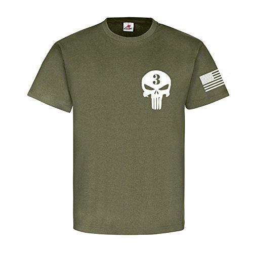 The Sniper Legend Chris Kyle USA Amerika USMC Us Marine Corps - T Shirt #17762, Farbe:Oliv, Größe:Herren L -