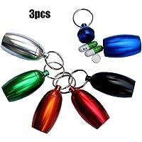 Unbekannt 6 Stücke / 3 Stücke Aluminium Pille Box Fall Flasche Cache Drug Holder Keychain Container Wasserdicht,2 preisvergleich bei billige-tabletten.eu
