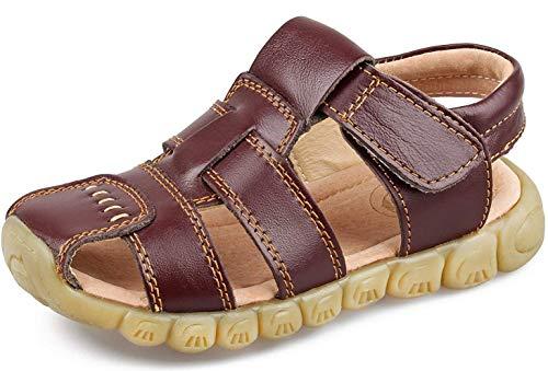 Saldgoiz Boys Girls Sports Outdoor Sandals Kids Closed Toe Athletic Summer Casual Flat Beach Walking Trekking Sandals Shoes (Toddler/Little Kid/Big Kid)