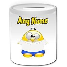 Regalo personalizado – Silly Homer Simpson Caja de dinero (pingüino disfraz de personajes de dibujos animados Tema de diseño, color blanco) – cualquier ...