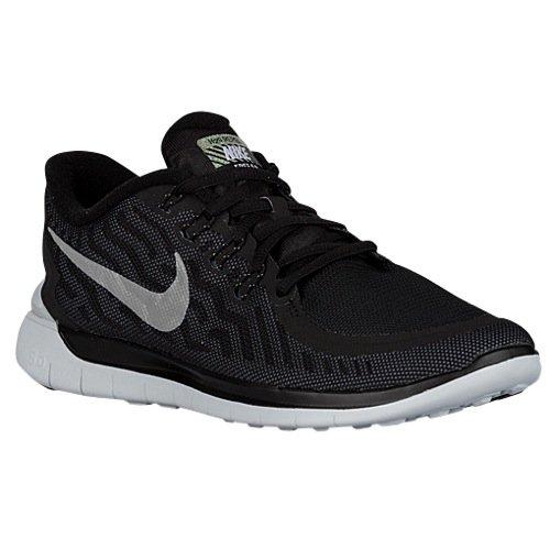 Nike Free 5.0 Flash Scarpe da corsa, Uomo Negro / Plata / Gris (Blk / Rflct Slvr-Cl Gry-Pr Pltnm)