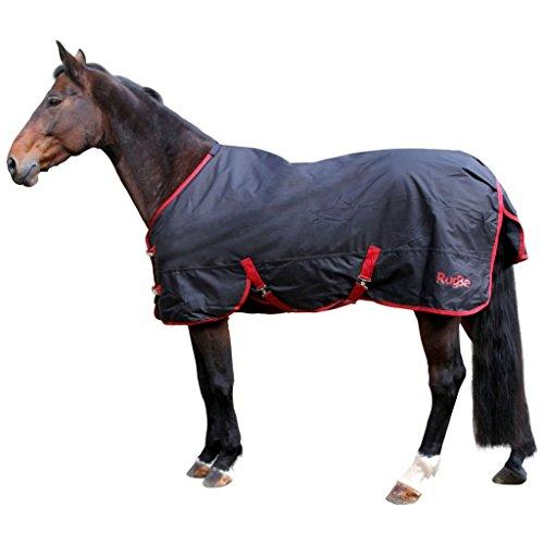 Kerbl Outdoordecke RugBe Zero.1 schwarz/rot Pferdedecke wasserabweisend (105)