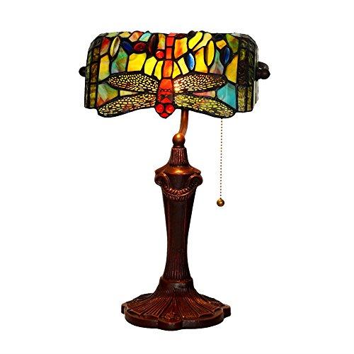 Lámpara de Mesa de Cristal Coloreada Retro de la lámpara de cabecera del Dormitorio de la lámpara de Mesa del Vector de la lámpara de Mesa