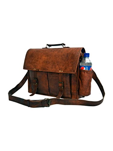 "Messenger of Leather , Borsa Messenger  marrone Brown 11"" x 15"" x 4.5"" Brown"