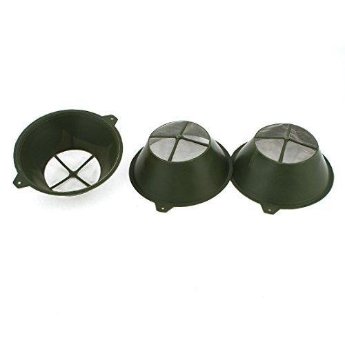 3pcs Industrie Armee-Grün 8 cm Durchmesser Nylon Net Kunststoff Farbsieb
