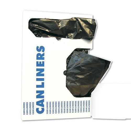 4 Gallon Black Garbage Bags, 17x17, 0.35mil, 1,000 Bags (BWK1717L) by Boardwalk