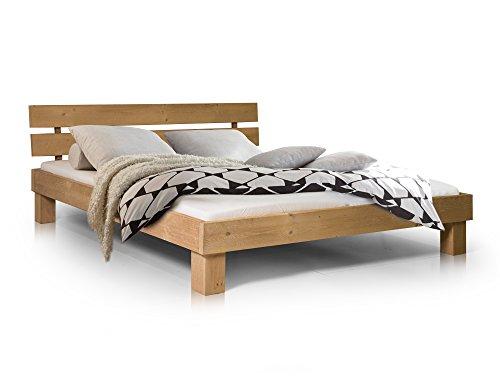 Massivholzbett Pumba Holzbett Doppelbett, Material Massivholz, Made in Germany, 140x200 cm, eichefarbig