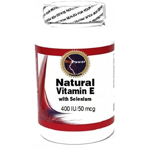 Natural Vitamin E with Selenium 400 IU/50 mcg 200 Capsules # BioPower Nutrition by BioPower Nutrition