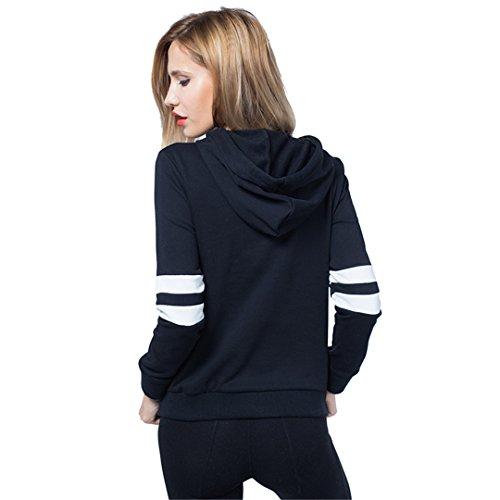 JOTHIN 2017 Damen Long Sleeve Hoodie Sweatshirt Weibliche mit Kapuze Strickjacke Frühling neuen Schwarz