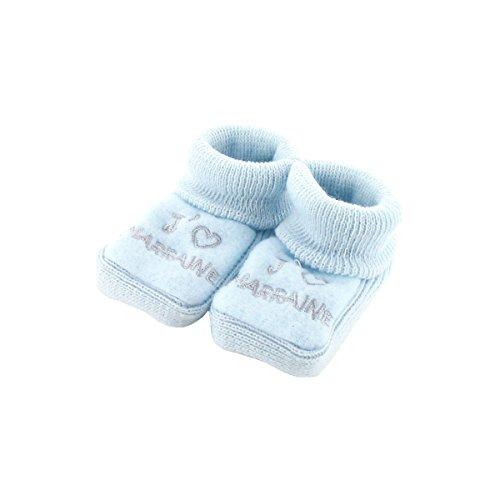 Chaussons pour bébé 0 à 3 Mois bleu - J'aime marraine