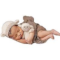 Jastore Neugeborenen Fotoshooting Kostüm Junge Mädchen Schäfchen Mützen Fotographie Prop Crochet Geschenk Baby Kleidung neuborn