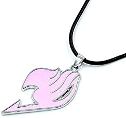 Anime Fairy Tail Logo Metal Necklace Cosplay Accessories - Pink