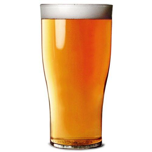 Elite Polycarbonate Tulip Half Pint Tumblers CE 10oz / 285ml - Set of 4 | Plastik Beer Glases, Plastik Half Pint Glases, Fast Unzerbrechlich Polycarbonate Plastik - Ideal for Parties, Outdoors & Event Catering