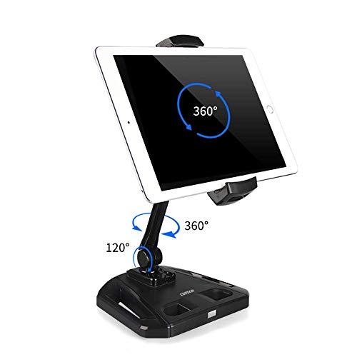 360 rotierenden Tablet Ipad Ständer für Ipad Mini Pro Tablet Halter, drehbares Design für Ipad Ständer mit Store POS Office Showcase Rezeption Küche Desktop (Rotierenden Ipad Für Fall Mini)