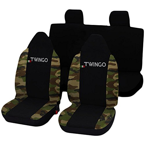 Lupex Shop Twingo_N.Mcl Coprisedili, Nero/Mimetico Classico