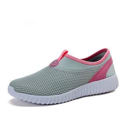 Ash Braune Pulver (AVBGT Breathable Mesh Cloth Schuhe Mesh Schuhe Schuhe Laufen Tennis Schuhe Freizeit Sport Frauen, Esche Pulver, achtunddreißig)