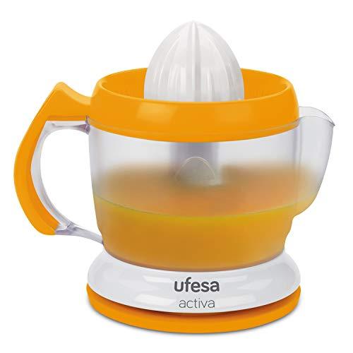 Ufesa EX4939 Activa - Exprimidor eléctrico, 40W, 1L, 2 conos, Giro en ambos sentidos, Palas para arrastrar...