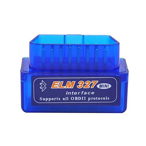 Myhonour Mini Bluetooth Diagnose Scanner Interface Diagnosegerät Funktioniert Bei Allem PKWs KFZs (Blau)
