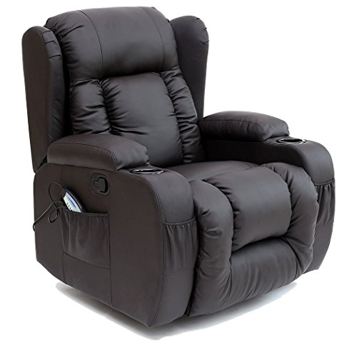 Ceasar 10 In 1 Winged Leather Recliner Chair Gaming