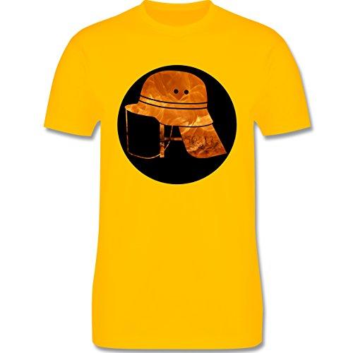 Feuerwehr - Feuerwehr Helm Flammen - Herren Premium T-Shirt Gelb