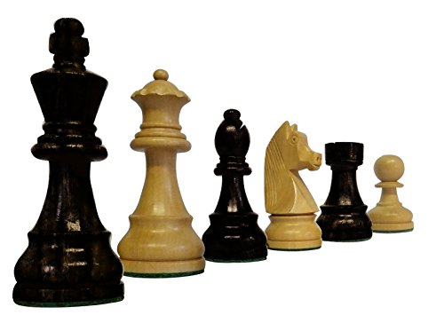 SchachQueen-Bundesliga-Turnier-Schachfiguren-schwarzwei-Classic-Holz-Knigshhe-97-mm