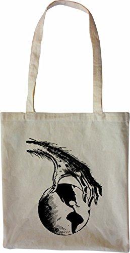 Mister Merchandise Tote Bag I rule the World Borsa Bagaglio , Colore: Nero Naturale