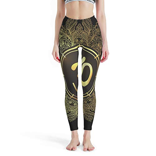 O1FHW-8 Damen Yoga Lotus Design Dünne Leggings Sexy Schlank Für Jeden Körpertyp Leg Pants Yoga - Yoga Lotus Leggings Damen Kurz