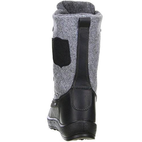 Vista Damen Winterstiefel Snowboots schwarz/grau Mehrfarbig